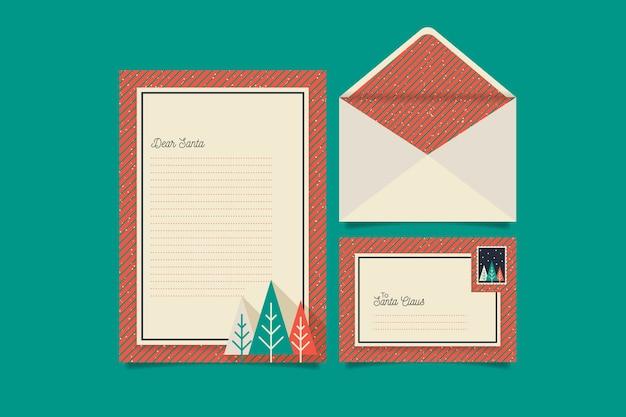 Vintage christmas briefpapier vorlage