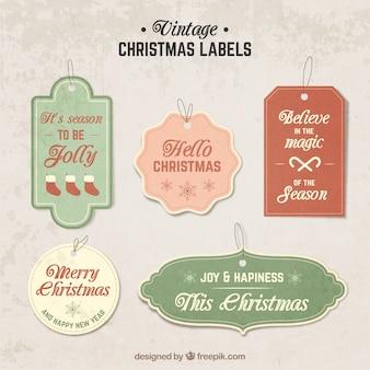 Vintage christmas etiketten