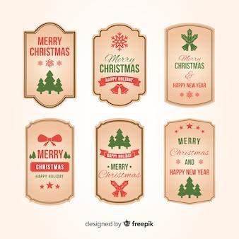 Vintage christmas label-auflistung