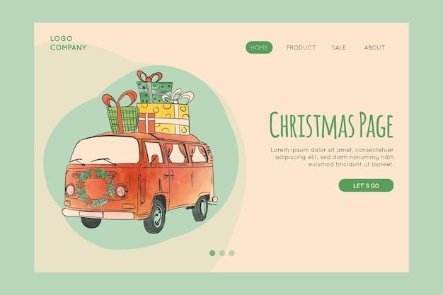 Vintage christmas landing page vorlage