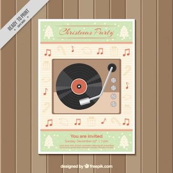 Vintage christmas party broschüre