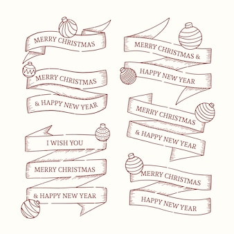 Vintage christmas ribbon-auflistung
