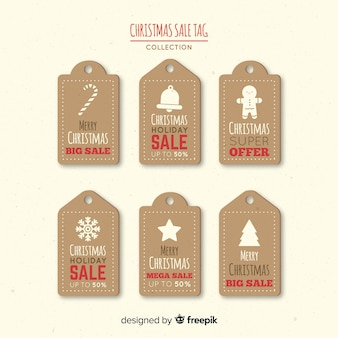 Vintage christmas sale label kollektion