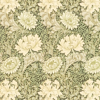 Vintage chrysantheme blumenmuster vektor