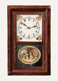 Vintage clock vector illustration, remixed aus dem artwork von dana bartlett