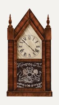 Vintage clock vector illustration, remixed aus dem artwork von edith miller