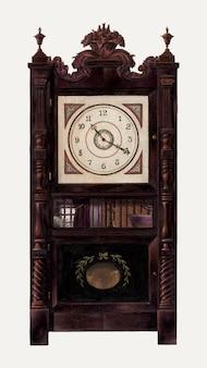 Vintage clock vector illustration, remixed aus dem artwork von ralph morton