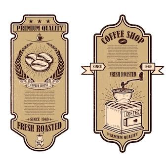 Vintage coffee shop flyer vorlagen