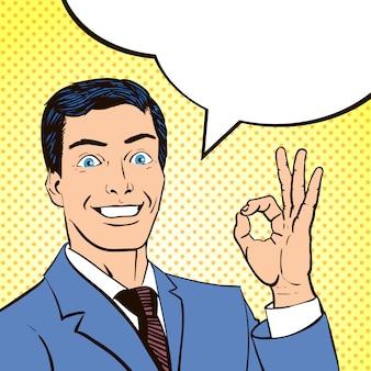Vintage comics buch panel mann