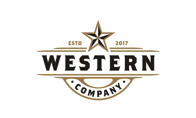 Vintage country emblem typografie für bier / restaurant logo