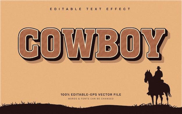 Vintage cowboy-texteffekt