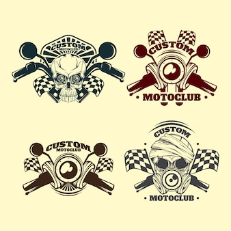 Vintage custom motoclub emblem