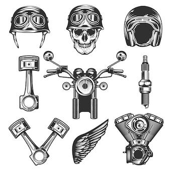 Vintage custom motorrad elemente und teile
