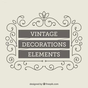 Vintage-dekoration elemente