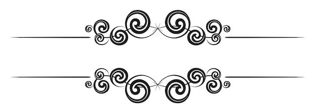 Vintage dekorative kalligraphische grenze vorlage beschilderung logos etiketten aufkleber karten