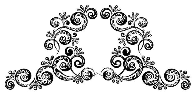 Vintage dekorative kalligraphische grenze