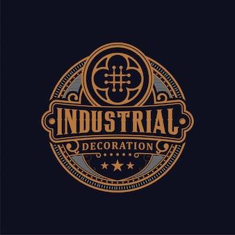 Vintage dekorative luxus-logo-design