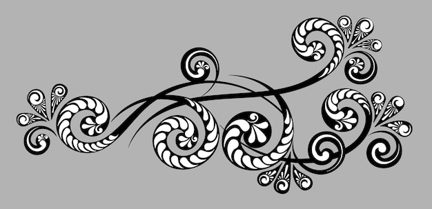 Vintage dekorative monogramme und kalligraphische bordüren