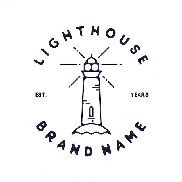 Vintage-design des leuchtturmabzeichens