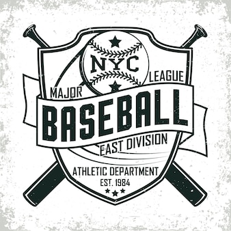 Vintage design, grange print stempel, baseball typografie emblem, sport logo kreatives design