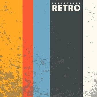 Vintage-design-hintergrund mit retro-grunge-textur und farbigen streifen. vektor-illustration.