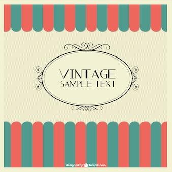 Vintage-design-vorlage kostenlos