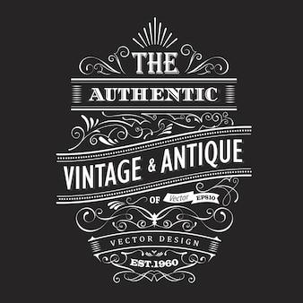 Vintage design westliches etikett typografie vektor