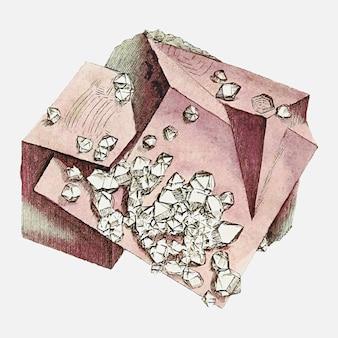 Vintage diamantabbildung