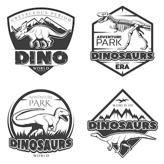 Vintage dinosaurier-logos