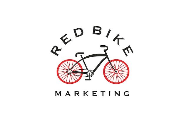 Vintage einfaches fahrrad logo