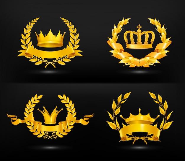 Vintage emblem, auf schwarz gesetzt