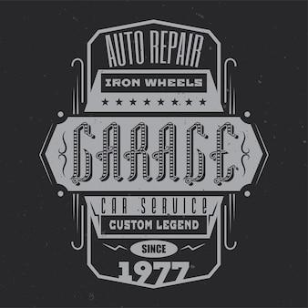 Vintage emblem design mit kalligraphischer komposition
