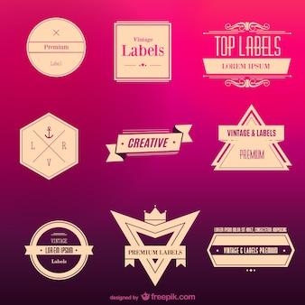 Vintage etiketten kostenlos zum download