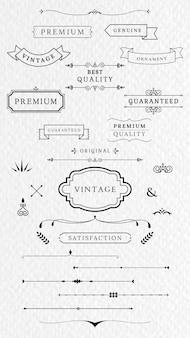 Vintage etiketten und banner