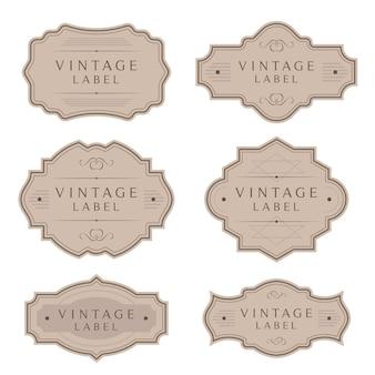Vintage etiketten und tags rahmen sammlung