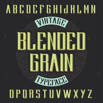 Vintage etikettenschrift