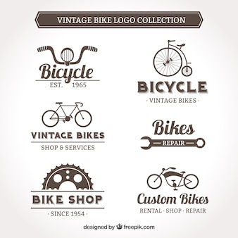 Vintage fahrrad-logo sammlung