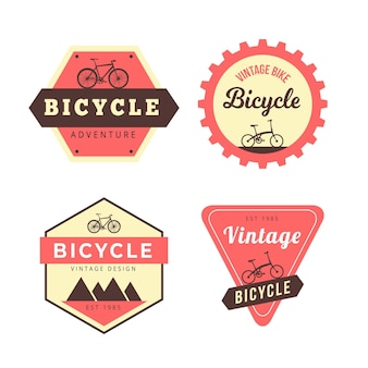 Vintage fahrrad logo sammlung