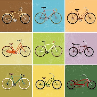 Vintage fahrräder sammlung