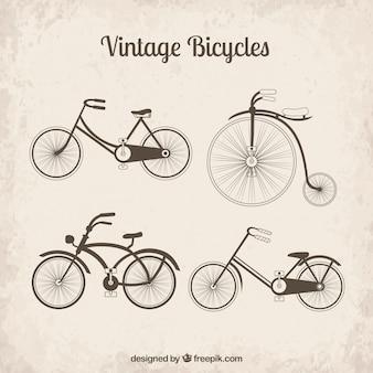 Vintage-fahrräder sammlung