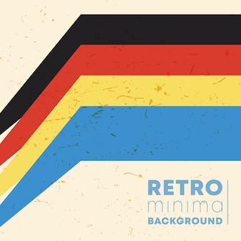 Vintage farbe streifen hintergrund mit retro-grunge-textur. vektor-illustration.