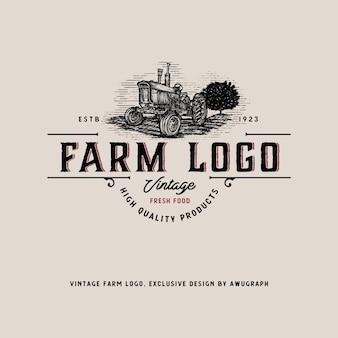 Vintage farm logo