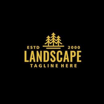 Vintage fichte logo vorlage