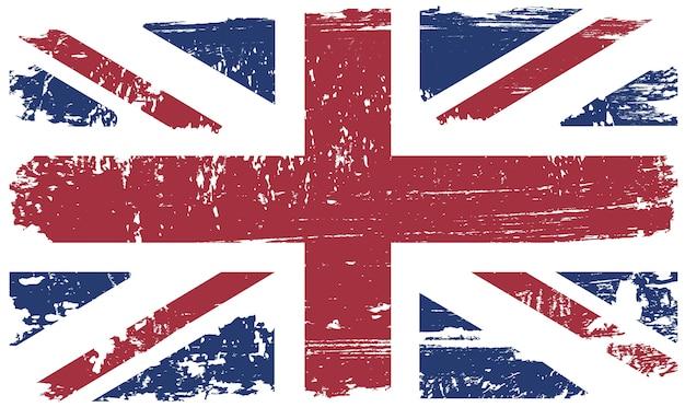 Vintage flagge des vereinigten königreichs