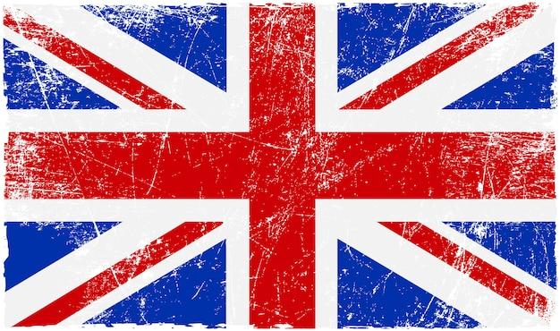 Vintage flagge vereinigten königreichs