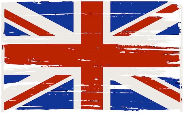 Vintage flagge von großbritannien