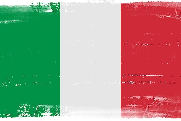 Vintage flagge von italien