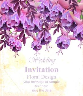 Vintage floral banner grußkarte