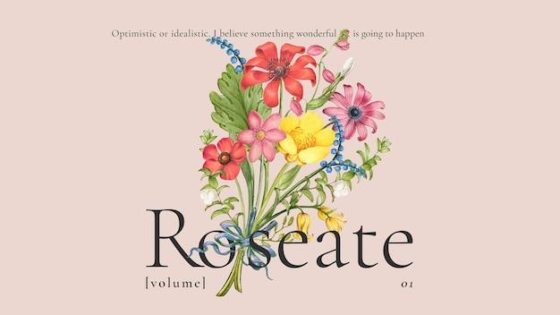 Vintage floral bunte vorlage für blog-banner