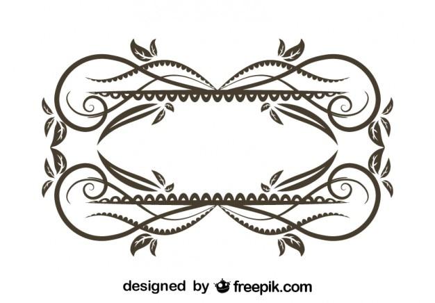 Vintage floral dekorrahmen-design